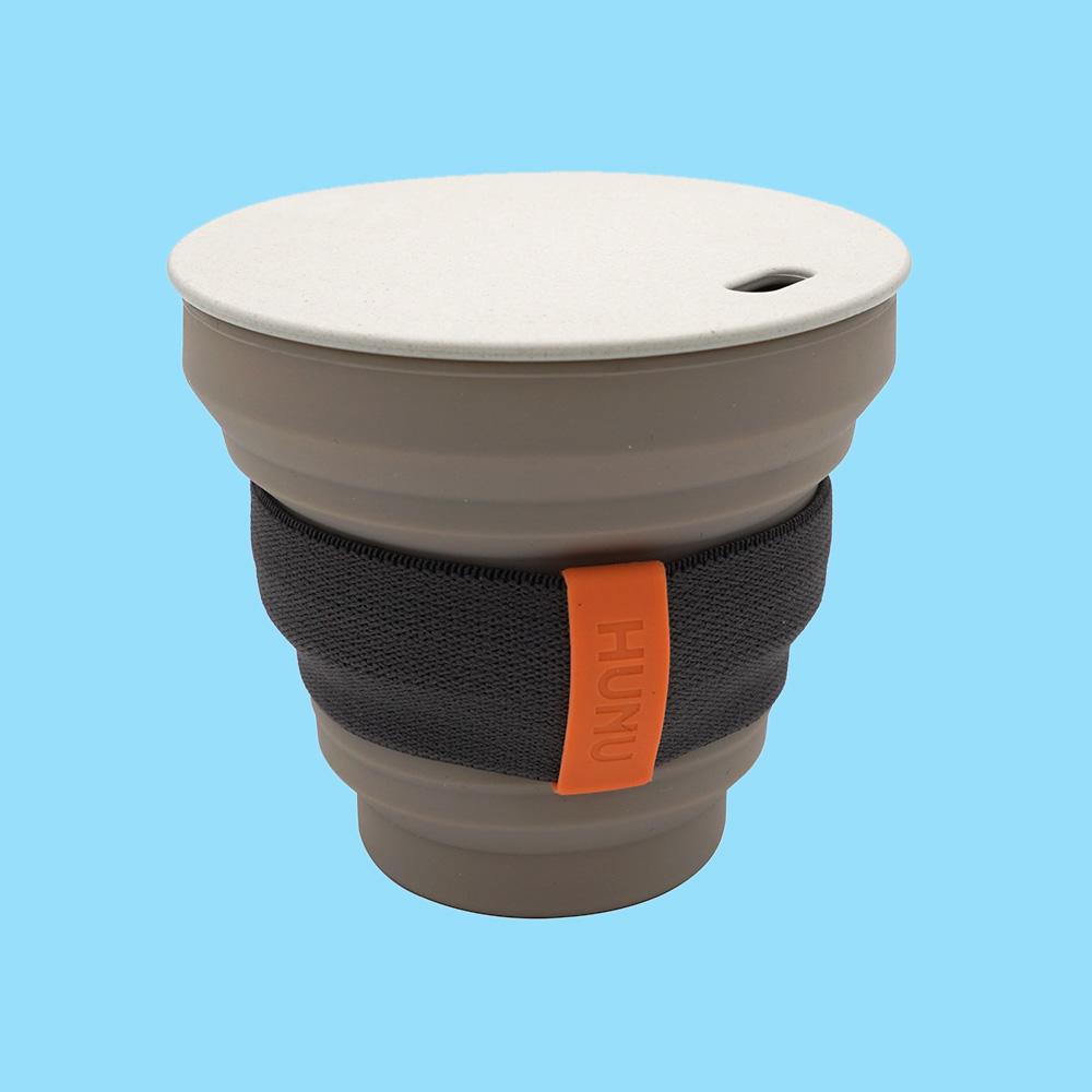 Hunu Collapsible Cup 8oz Warm Grey