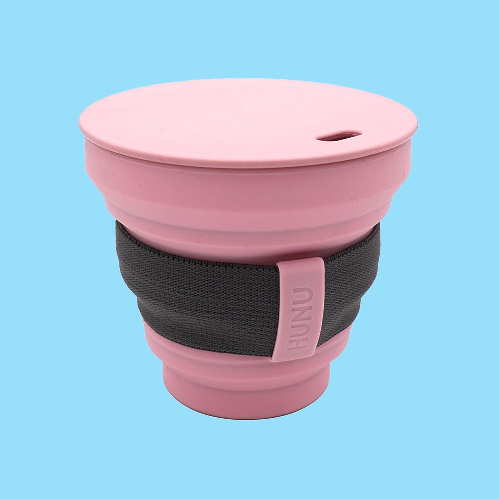 Hunu Collapsible Cup 8oz Pastel Pink